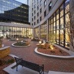 Mercy South Patient Tower Courtyard